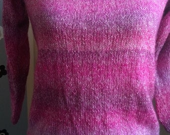 Hand-made sweater in wool, size small