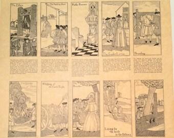 Parchment Print:  Curious Punishments of Colonial Days