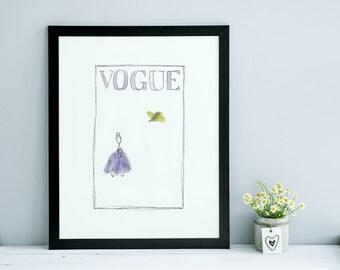 Vogue Petal Collage Print