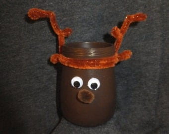 Reindeer Holiday Hearth Ornament (tall/brown)