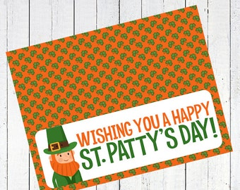 leprechaun bag toppers st patricks day st pattys day printable clover leaf - Wishing You A Happy St. Patty's Day Bag Toppers Printable