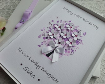 Birthday Card Handmade Personalised 3D 16th 18th 20th 30th 40th 50th 60th 70th 80th Mother Grandmother Aunt Sister Daughter Granddaughter