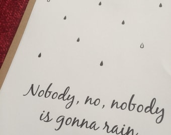 Nobody is gonna rain on my parade... Funny Girl A4 Quote Print