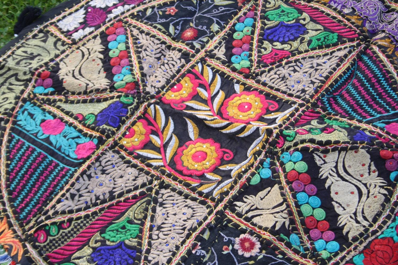 Mandala patchwork wandbehang runde tischdecke schwarz - Wandbehang patchwork ...