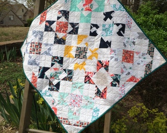 Modern Baby Quilt | Lavished Pattern | Recollections Fabric