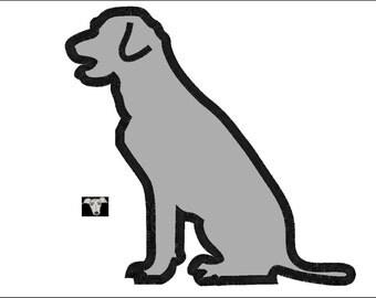 Labrador sitting etsy fr for Cout d un chien assis