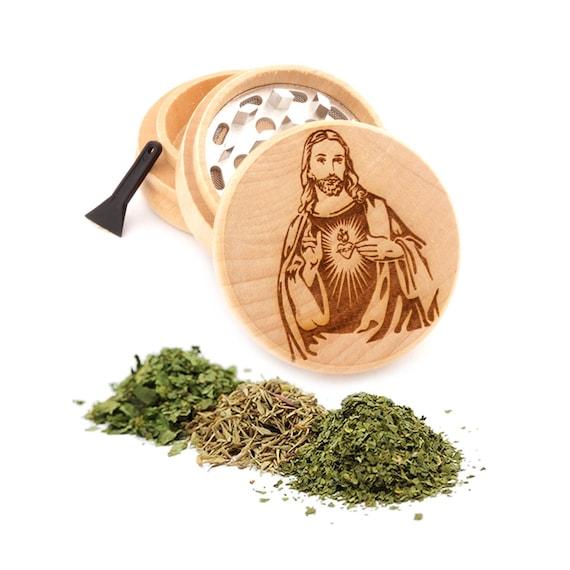 Jesus Engraved Premium Natural Wooden Grinder Item # PW91316-43