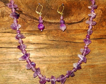 Amethyst and Agate Necklace Set
