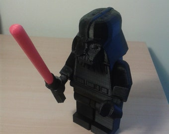 3D Printed - Lego Style - Darth Vader Figure