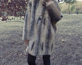 Fur with Mandarin collar