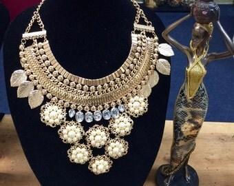 Cleopatra style necklace.