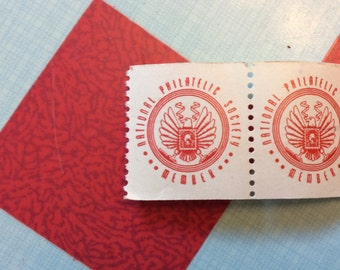 Vintage 1950s National Philatelic Society Member Stamp Roll (A819)