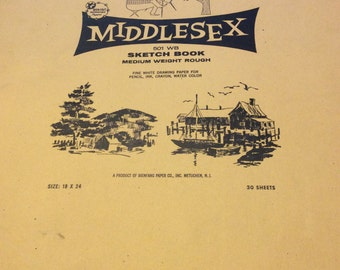 Sketch Book, Vintage 60s, 18x24, Old Stock, Destash (A993)