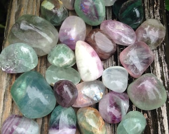 7 Fluorite pebbles