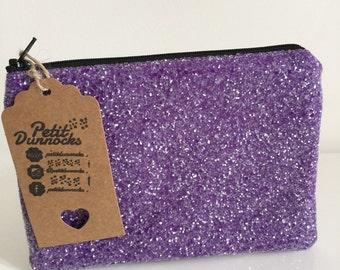 Purple Glitter bag evening bag clutch purse in grape
