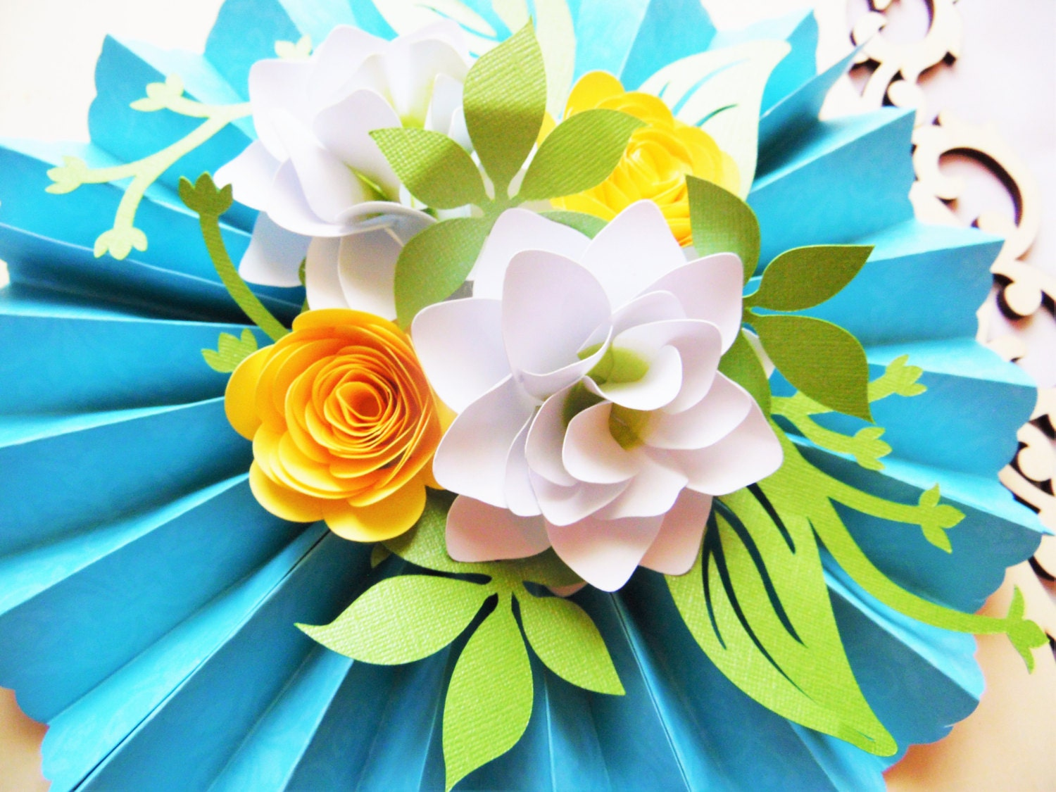 Diy rosette medallions with paper flowers diy paper flower zoom dhlflorist Choice Image