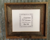 """8x10 Picture Frame - 2"""" wide stacked profile Natural Rustic Reclaimed Cedar Barn Wood - 8x10 picture Frame Handmade in Texas - 8x10"""