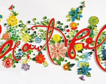 Paper Quilling Typography