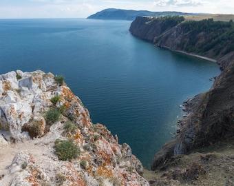 Big size beautiful lake Baikal landscape view photo print canvas wall decor fine art different sizes