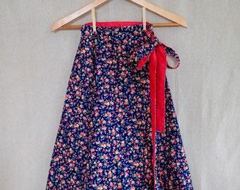 Calico Reversible Wrap Skirt