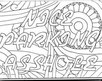 nice parking asshole coloring page