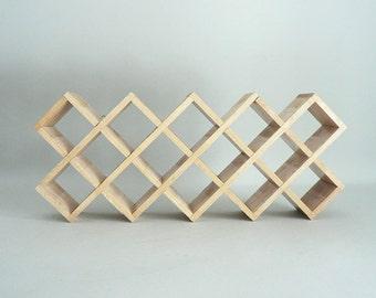 Vintage Modern Wood Cubby Shelf by Kamenstein