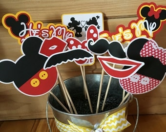 Disney Inspired Mickey & Minnie in Love Photo Booth Props