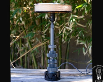 Air Cleaner and Motorcycle Parts Lamp in Black and Grey