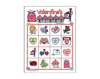 Valentine's Day Bingo 4x4 25 Card Pack