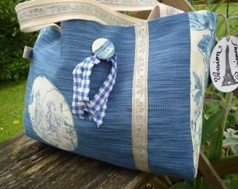 Blue bag.