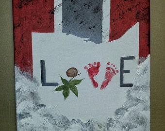 Ohio State Love Painting