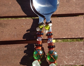 Decorated serving spoons