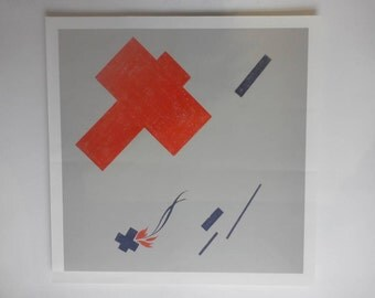 Homage to Malevich - screen print on paper
