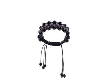 Bracelet with onyx and hemattite