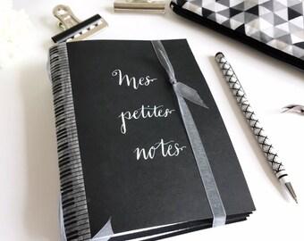 Black kraft notebook personnalized