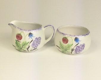 Matching vintage jug and sugar bowl set