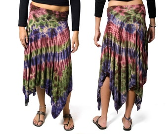 Tie Dye Fairy Skirt - Blue-Green-Berry Multi - 2269R