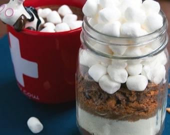 Butterfinger Hot Chocolate Mix in Mason Jar- Hot Cocoa, Butterfinger Mix in Mason Jar- Corporate Gift