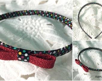 Dot & Spot Bow Headband