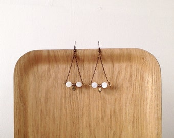 Earrings white shells
