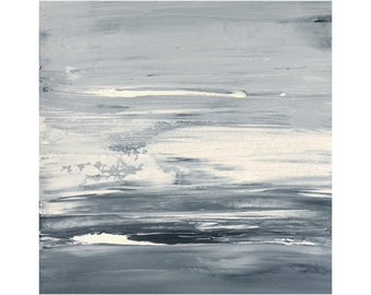 """Ice age [ 8x8"""" abstract painting ]"""