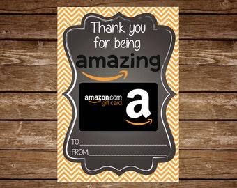 Amazon Gift Card Holder Tag  Printable