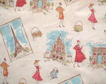 Tres Chic Paris Flamingo Fabric, Waverly Home Decor Printed Decorative