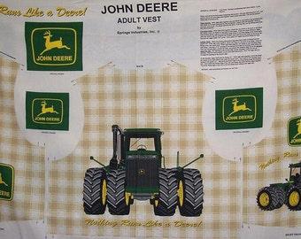John Deere, Nothing Runs Likes a Deere! Adult Vest Fabric Panel