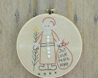 santa needle art