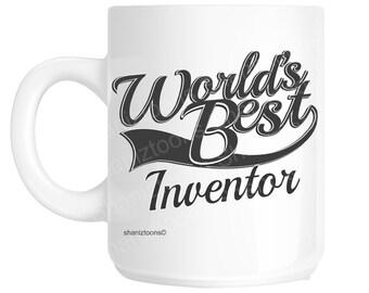 Inventor World's Best Novelty Gift Mug shan1013