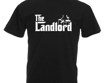 Landlord Mens Adults Black T Shirt Sizes From Small - 3XL