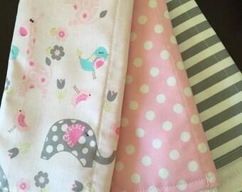 Animal Burp Cloth Girl