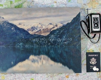 WOOD* Glacier Bay Mountain Reflection | 16x20 Print on Wood