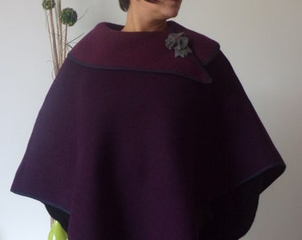 30% OFF using code PROMO30. Cape poncho woolen.